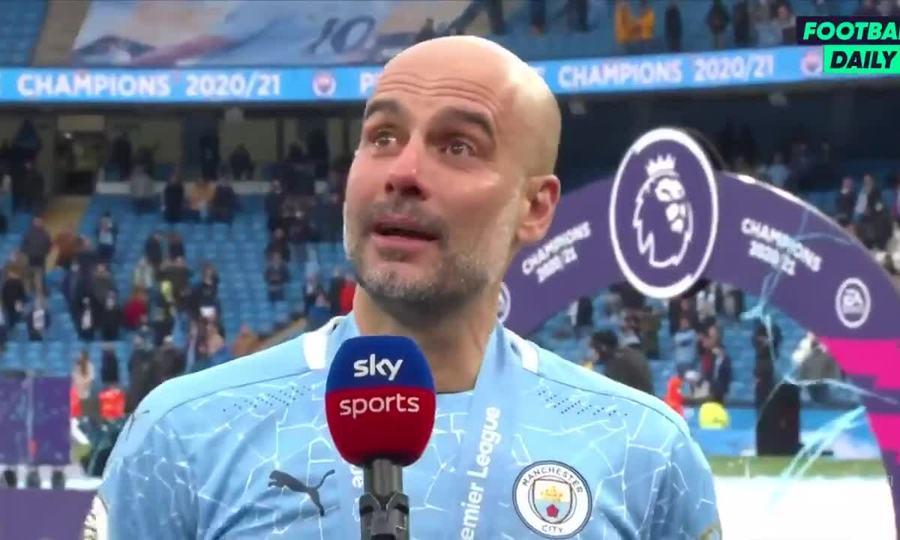 Guardiola khóc khi tri ân Aguero