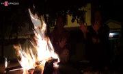 Người Sài Gòn đốt lửa chống rét