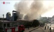 Cháy cơ sở sản xuất nến ở Hải Phòng