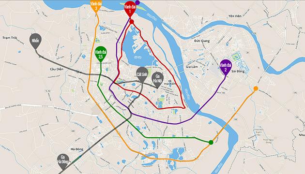 Mạng lưới đường sắt đô thị và vành đai ở Hà Nội như thế nào