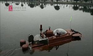 Tàu ngầm Hoàng Sa lặn sâu 3 giờ tại hồ lớn