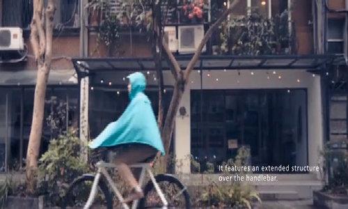 Siêu áo mưa chống ướt cho người đi xe đạp