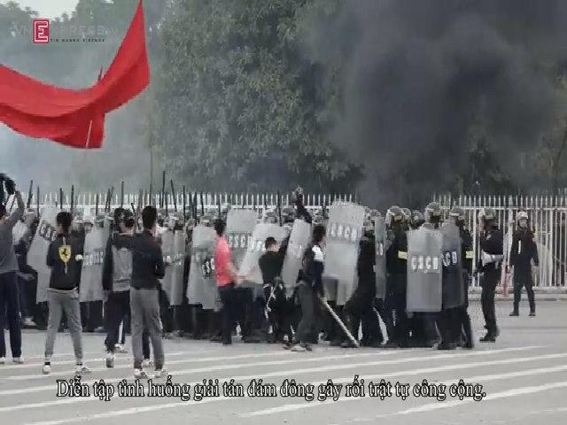 Hà Nội diễn tập tình huống giải tán đám đông gây rối