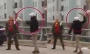 Thanh niên và tài xế ôtô cầm dao chém nhau giữa đường Hà Nội