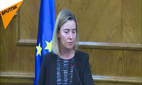 Cao uỷ về chính sách an ninh và đối ngoại EU bật khóc khi phát biểu tại Brussels
