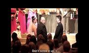 Hài hước bố vợ 'dằn mặt' con rể trong ngày cưới