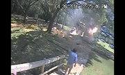 Lao vào đám lửa giải cứu phi công máy bay rơi ở Mỹ