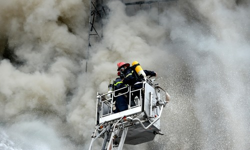 Cháy lớn tại 28 Trần Thái Tông