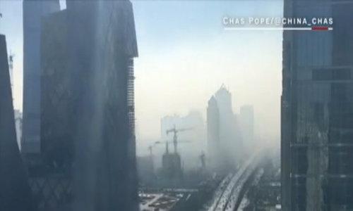 Khói mù ô nhiễm bao phủ trung tâm Bắc Kinh chỉ trong 20 phút