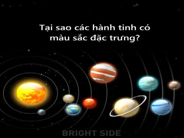 Lý giải màu sắc đặc trưng của các hành tinh hệ Mặt Trời