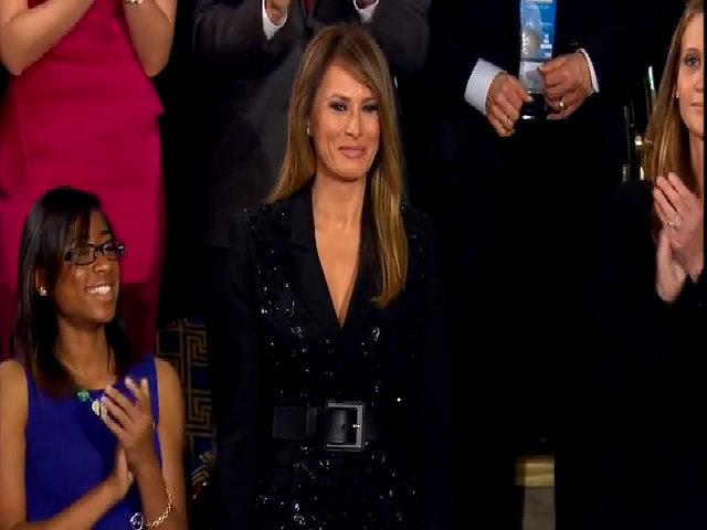 Melania Trump được chào đón nồng nhiệt tại quốc hội