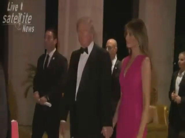 Trump và vợ tham dự dạ tiệc gây quỹ