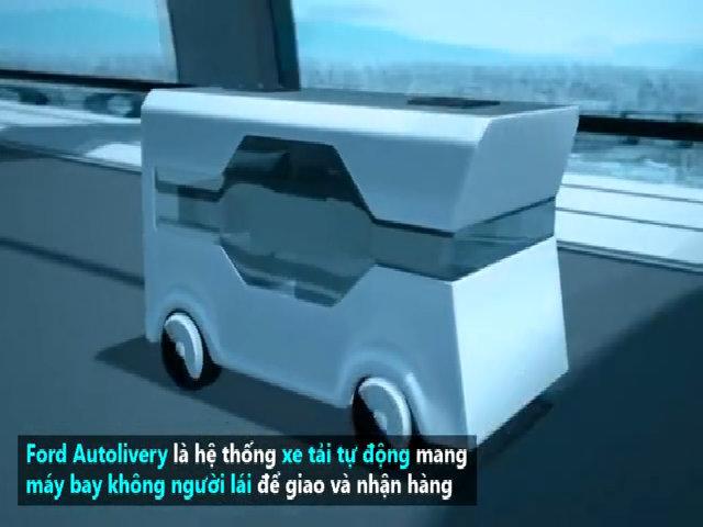 Xe tải giao hàng tự động bằng máy bay không người lái
