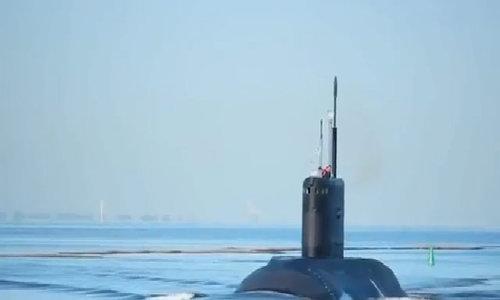 Tàu ngầm Đà Nẵng thử nghiệm trên biển