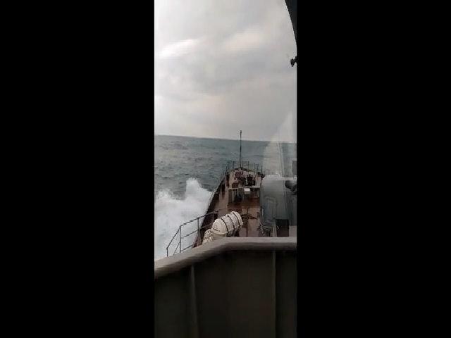 Chiến hạm tàng hình Gepard trở về quân cảng Nga sau đợt kiểm tra