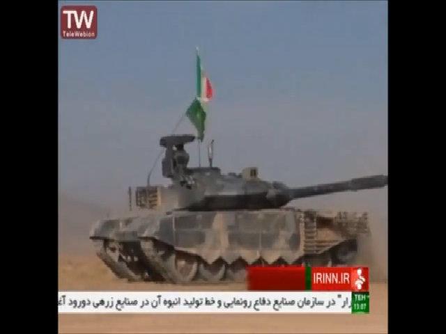 Iran trình làng xe tăng tự chế giống hệt T-90MS Nga
