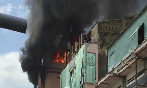 Clip cháy chợ Kiêm Biên
