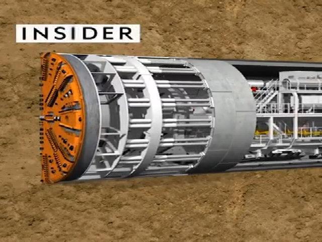 Đường hầm khổng lồ cho tàu điện ngầm được đào như thế nào?