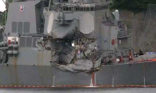 Tàu USS Fitzgerald tại Yokosuka, Nhật Bản
