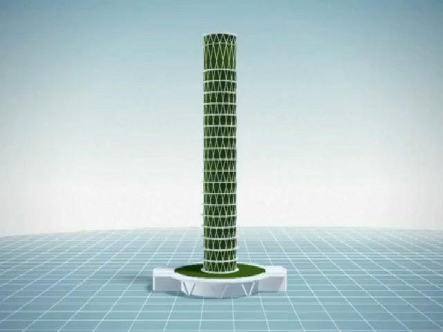 Tòa tháp xoắn chuyên 'nuốt' khí CO2 ở Đài Loan