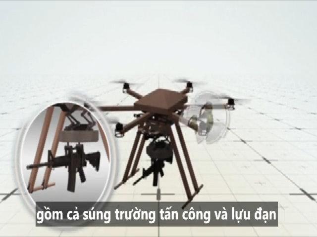 Mẫu UAV vũ trang thay thế binh sĩ Mỹ trên chiến trường
