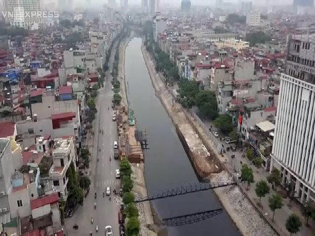 5 tuyến phố ven sông ở Hà Nội 'thay áo mới' nhìn từ trên cao