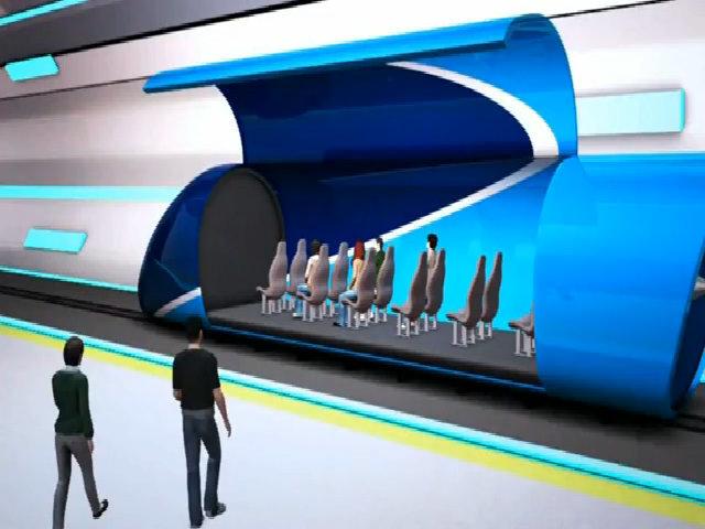 Dự án tàu siêu tốc chạy giữa các thành phố trong vài phút