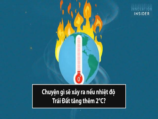 Viễn cảnh khi nhiệt độ Trái Đất tăng thêm 2°C