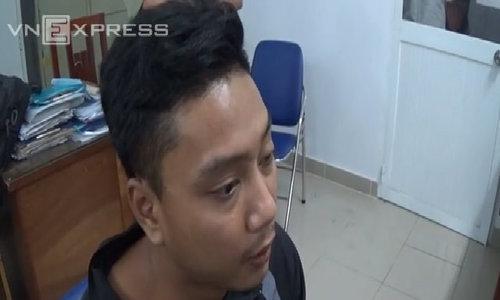Camera ghi hình tên cướp túi xách tại trạm xăng ở Sài Gòn