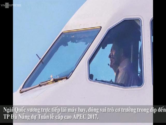 Quốc Vương Brunie lái chuyên cơ đến Đà Nẵng