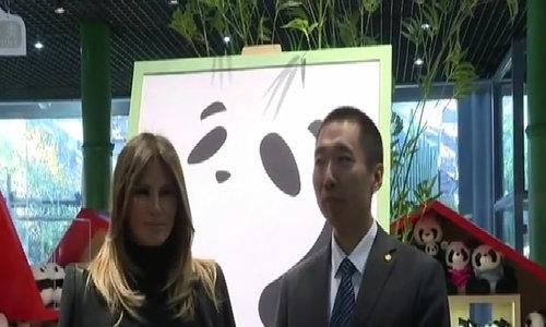 Đệ nhất phu nhân Mỹ thăm gấu trúc Trung Quốc