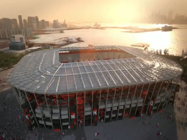 Qatar xây sân vận động từ container phục vụ World Cup