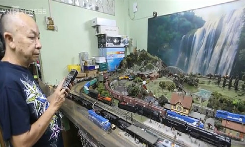 Bộ sưu tập mô hình xe lửa nhiều nhất Việt Nam