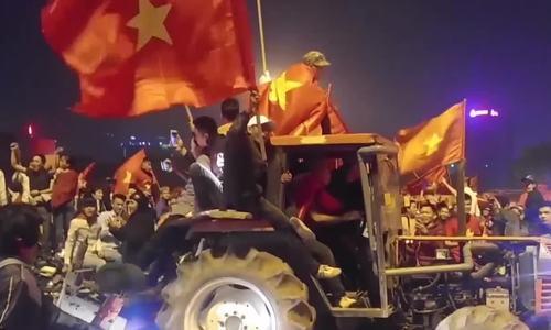Khoảnh khắc ăn mừng độc đáo sau chiến thắng của U23 Việt Nam
