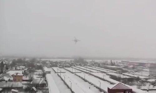 Oanh tạc cơ Nga bay tầm thấp trong trời tuyết