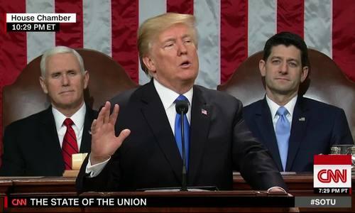 Trump phát Thông điệp Liên bang đầu tiên