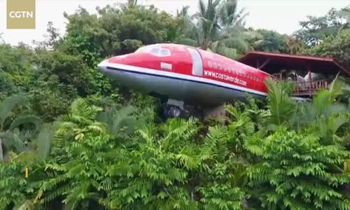 Máy bay bỏ đi biến thành khách sạn sang trọng ở Costa Rica