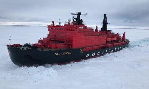 Sức mạnh tàu nguyên tử phá băng mạnh nhất thế giới