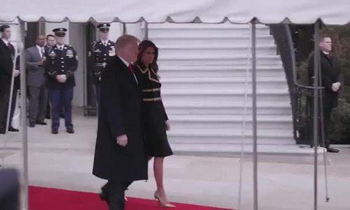 Melania mặc váy đen sang trọng đón vợ chồng Thủ tướng Australia