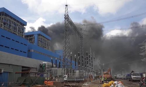 Đu dây tại nhiệt điện Duyên Hải 3