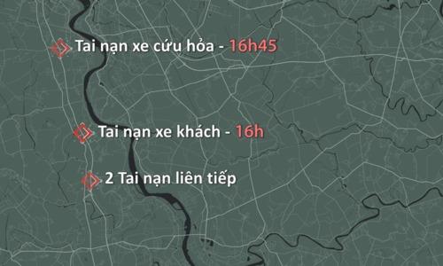 4 vụ tại nạn trên cao tốc Pháp Vân - Cầu Giẽ
