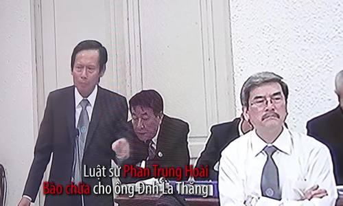 Luật sư Phan Trung Hoài tranh luận sáng 22/3