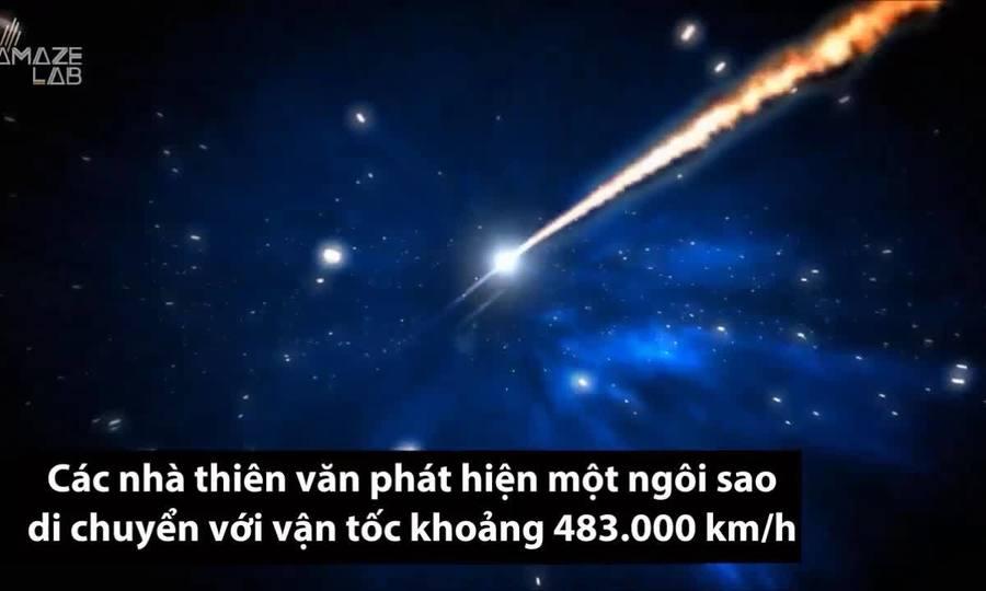 Phát hiện ngôi sao bay với tốc độ 483.000 km/h trong vũ trụ