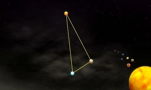 Tam giác sao Mộc trên trời đêm tháng 4