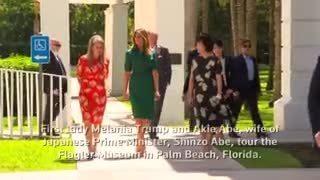 Bà Melania tham quan bảo tàng với phu nhân thủ tướng Abe