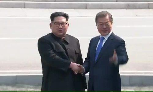 Đề nghị bất ngờ của Kim Jong-un khi gặp Tổng thống Hàn Quốc ở biên giới