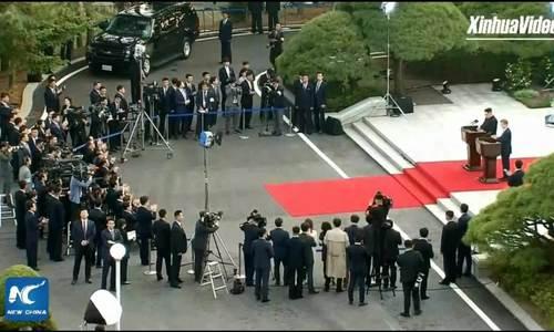 Kim Jong-un phát biểu trước báo chí quốc tế