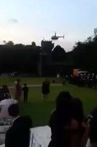 Cô dâu Brazil thoát chết khi trực thăng bốc cháy ở hôn trường