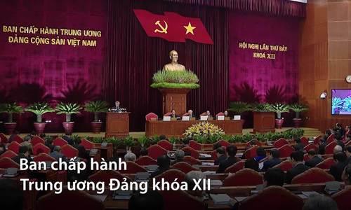 Khai mạc Hội nghị lần thứ 7, BCH Trung ương Đảng khóa XII