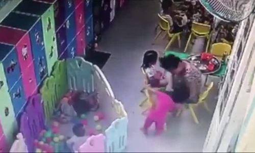 Cô giáo mầm non ở Sài Gòn đánh trẻ